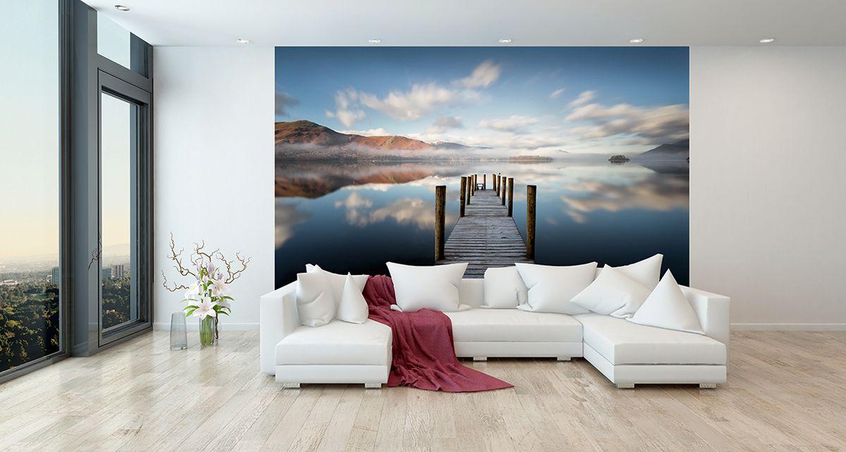 Фотообои PosterMarket Пирс на озере Деруэнт-Уотер, размер 254 х 184WM-14Озеро Деруент-Уотер — третье по величине естественное озеро в графстве Камбрия на северо-западе Англии.