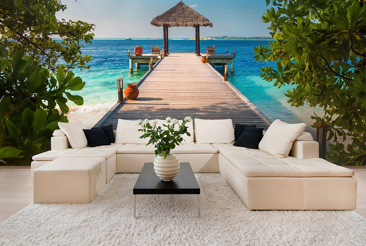 Фотообои PosterMarket Мальдивы, размер 254 х 184WM-15Спокойствие, необыкновенно красивая экваториальная природа, вечное лето и богатый подводный мир превращают Мальдивы поистине в райский уголок.