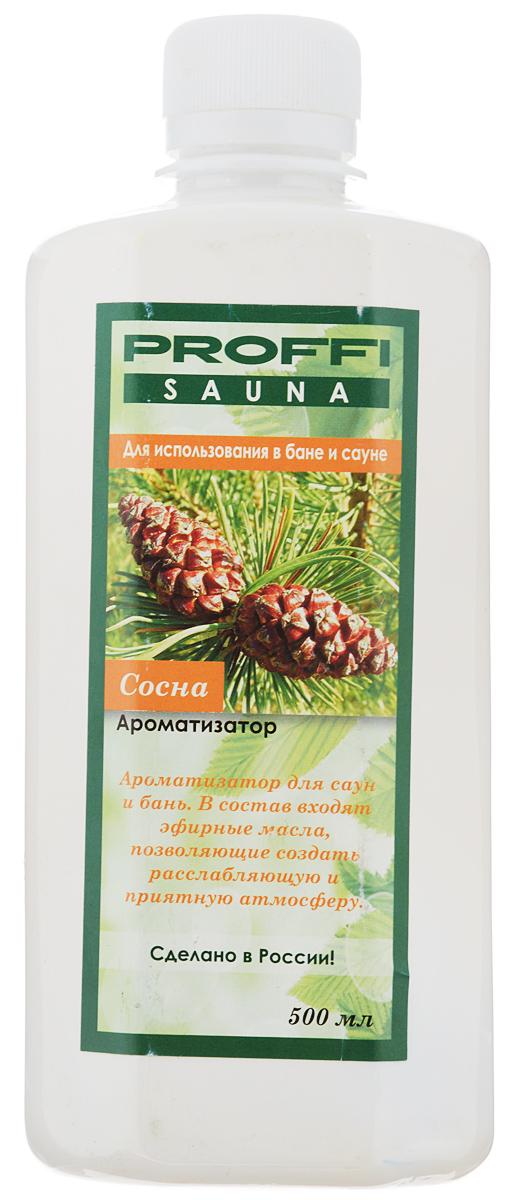 Ароматизатор Proffi Sauna Сосна, 500 млPS0004Ароматизатор Proffi Sauna Сосна для бани и сауны облегчает дыхание, снимает напряжение и оказывает релаксирующее действие. Сосновое масло также укрепляет иммунитет, отлично борется с головными и другими видами болей. Ведь неспроста с давних времен баню использовали как средство для профилактики и лечения от всевозможных болезней верхних дыхательных путей. Способ применения: Для поддачи пара 1/10 ароматизатора добавить в ковш с водой и поливать на камни. Состав: вода, натуральное масло сосны. Товар сертифицирован.