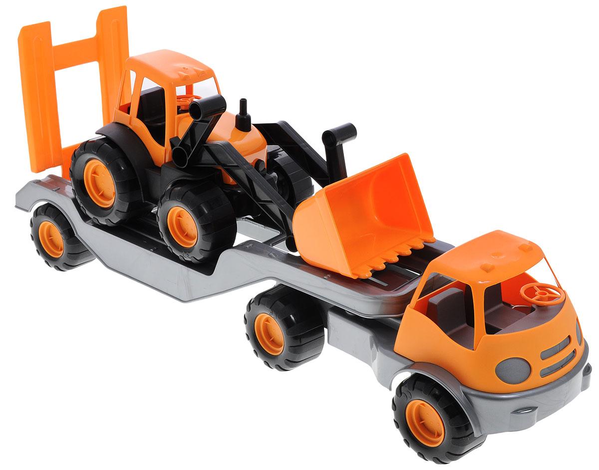 Zebratoys Тягач с трактором15-10171Тягач с трактором Zebratoys отлично подойдут ребенку для различных игр. Колеса у моделей имеют свободный ход. Трактор снабжен подвижным поднимающимся ковшом. Изделия отличается великолепным качеством исполнения и детальной проработкой, они станут интересной игрушкой для ребенка, интересующегося спецтехникой. Ваш ребенок будет в восторге от такого подарка! Уважаемые клиенты! Обращаем ваше внимание на ассортимент в цвете товара. Поставка возможна в одном из вариантов нижеприведенных цветов, в зависимости от наличия на складе.