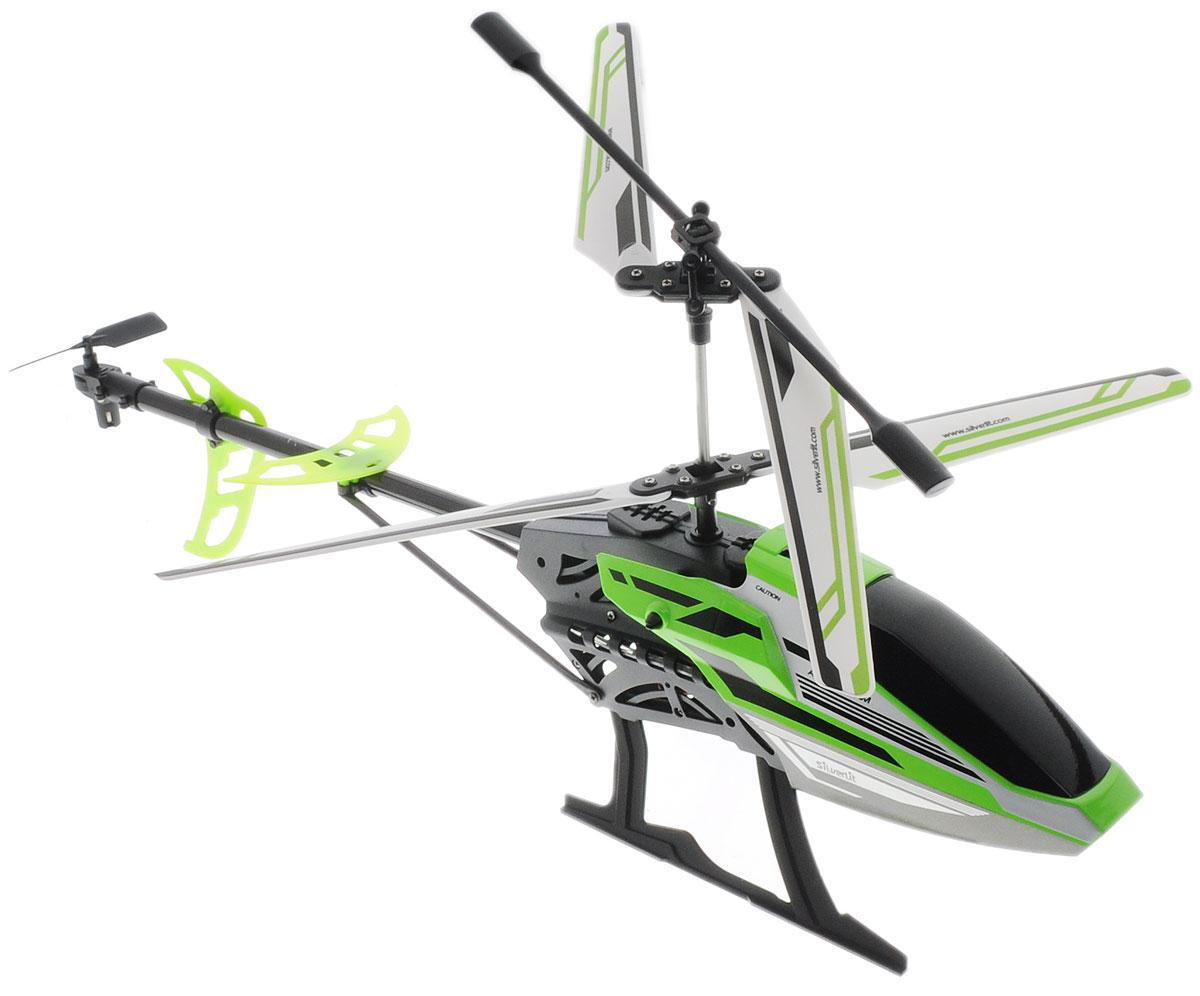 Silverlit Вертолет на радиоуправлении Sky Eagle III цвет черный салатовый84750_черный, салатовыйВертолет на радиоуправлении Silverlit  Sky Eagle III с трехканальным управлением обязательно привлечет внимание вашего ребенка. С игрушкой можно играть и на улице, если безветренная погода, и в закрытом помещении. Управление игрушкой происходит с помощью удобного пульта. Вертолет может летать вверх-вниз, вперед-назад, поворачивать налево и направо. Пульт управления работает на частоте 2,4 GHz, а дальность его действия составляет 25 метров. Игрушка развивает многочисленные способности ребенка - мелкую моторику, пространственное мышление, реакцию и логику. Вертолет работает от сменного аккумулятора (входит в комплект). Аккумулятор заряжается при помощи USB-шнура (входит в комплект). Для работы пульта управления необходимо купить 4 батарейки напряжением 1,5V типа АА (в комплект не входят).