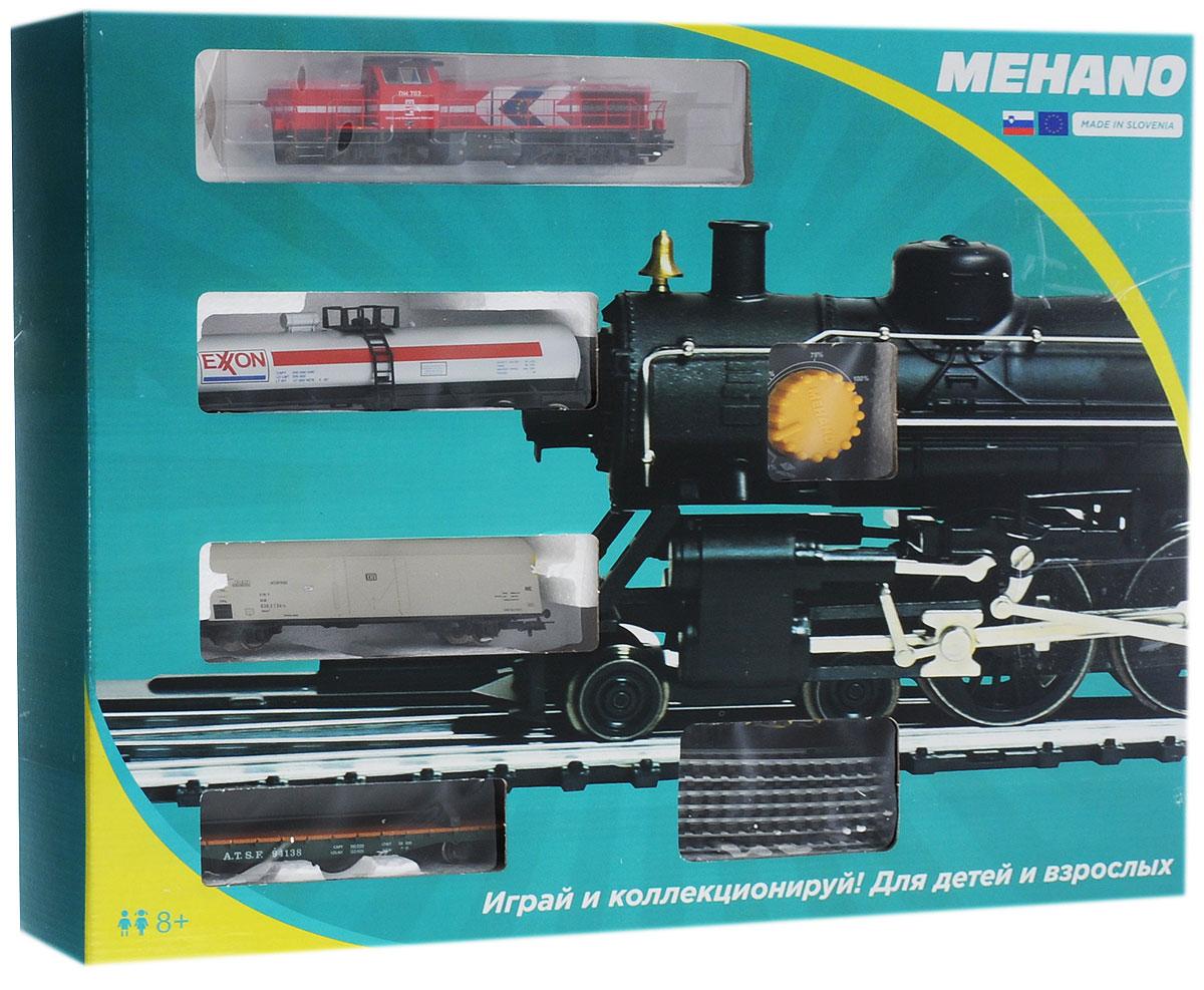 Mehano Железная дорога Prestige с тепловозом DH 702PR02-860Железная дорога Mehano - миниатюрная копия грузового состава. Мельчайшие детали паровозов, тепловозов и грузовых вагонов, каждая рельефная линия экстерьера тщательно проработаны, благодаря чему состав выглядит более чем реально. Можно вообразить, как этот состав загрузили где-то на миниатюрном перевалочном пункте, а затем он аккуратно вез свой груз по длинным разветвленным путям… Воплотить воображаемое в действительность очень легко: при желании железнодорожное полотно можно увеличить и добавить элементы ландшафта, ведь все элементы железных дорог Mehano совместимы друг с другом. При желании, можно докупить стрелку, перекресток и состав может двигаться на другие участки железной дороги. Рельсы металлические, колеса паровозов и вагонов выполнены из металла. Все элементы комплекта совместимы с другими сборными моделями железной дороги Mehano, так что юный машинист сможет прокладывать различные маршруты, строить новые станции и придумывать...