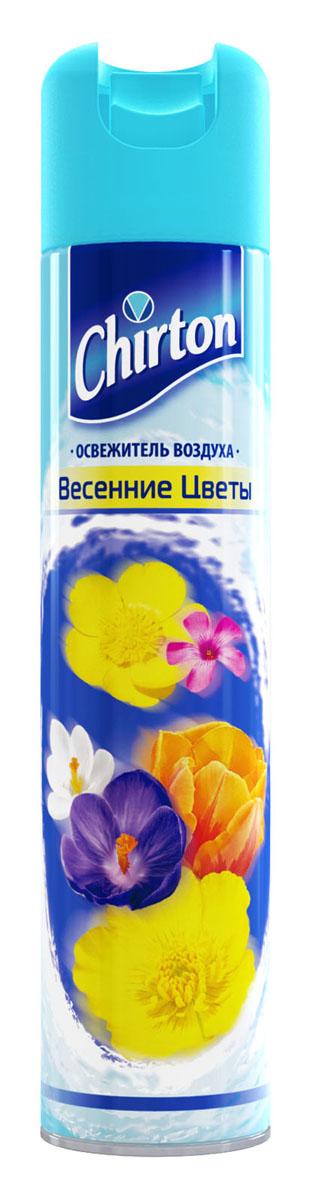 Освежитель воздуха Chirton Весенние цветы, 300 мл43886Чиртон представляет новейшую серию освежителей для вашего дома с его незабываемыми ароматами на любой вкус. Высокое качество позволит быстро избавиться от неприятных запахов в любом уголке вашего дома. Легко устраняет неприятные запахи, надолго наполняя дом неповторимыми нежными ароматами.