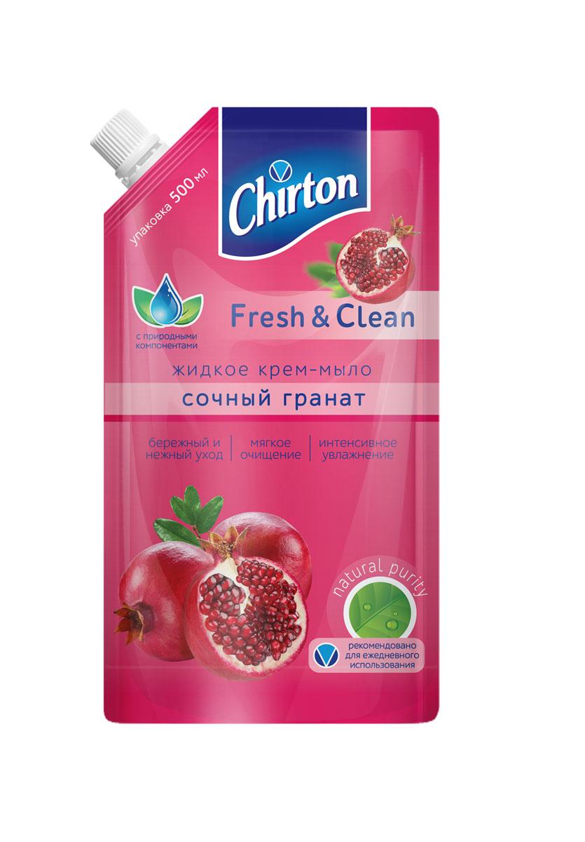 Жидкое крем-мыло Chirton Сочный гранат , 500 мл01171Жидкое крем - мыло Сочный гранат надежно защитит вашу кожу от бактерий, при этом сохраняя ее нежной и увлажнённой. Обильно пенится и приятно пахнет, имеет густую консистенцию и экономично расходуется. Объем – 500 мл.