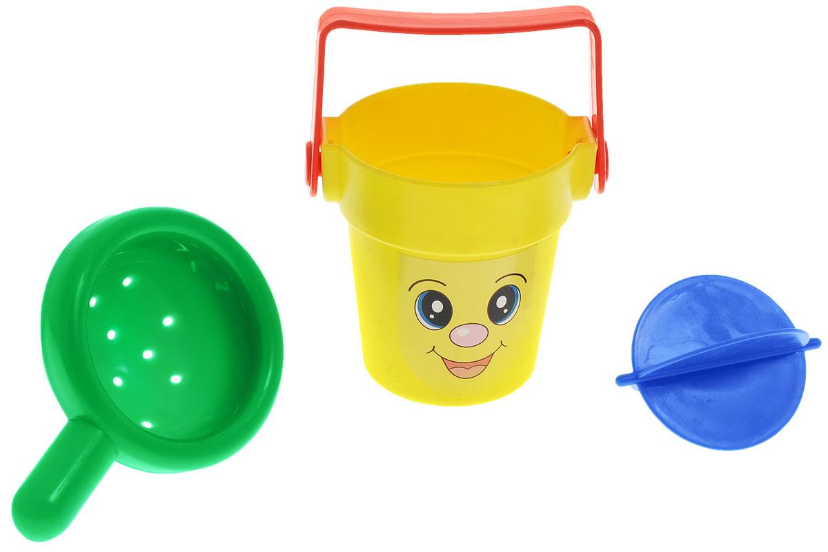 Simba Набор игрушек для ванной цвет желтый зеленый 2 шт4013559_желтый, зеленыйНабор игрушек для ванной Simba непременно понравится вашему ребенку и превратит купание в веселую игру! Набор включает в себя веселое ведерко с ручкой, внутри - вращающееся колесико с лопастями и сито. Все элементы выполнены из безопасного для ребенка материала. Ребенку во время водных процедур нравится наблюдать, как течет вода, а этот игровой набор непременно повеселит и развлечет его. Малыш будет лить воду в ведро и наблюдать, как крутятся лопасти внутри. Игрушки для ванной способствуют развитию воображения, цветового восприятия, тактильных ощущений, мелкой моторики рук и координации движений.