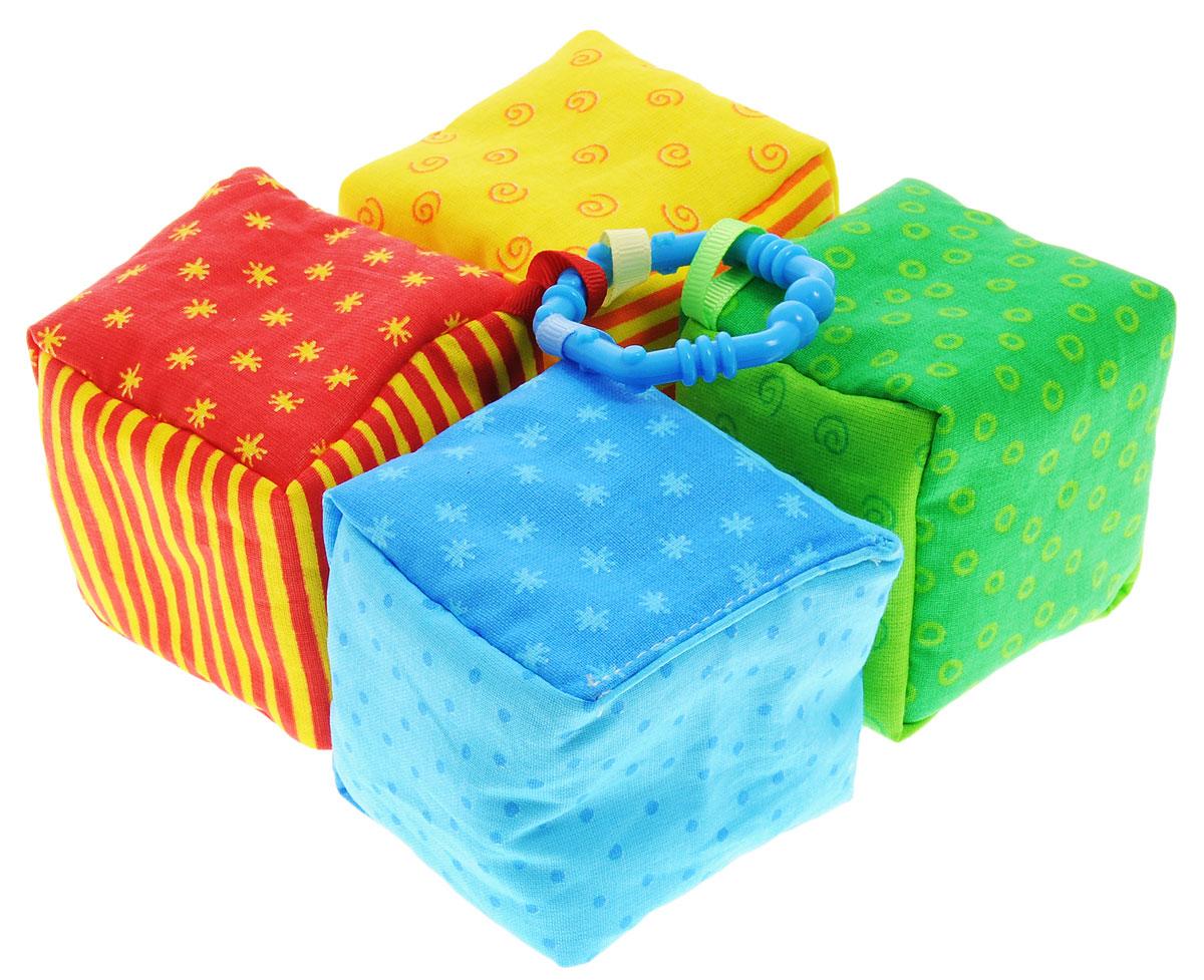 Мякиши Развивающая игрушка-погремушка Фантики цвет кольца синий