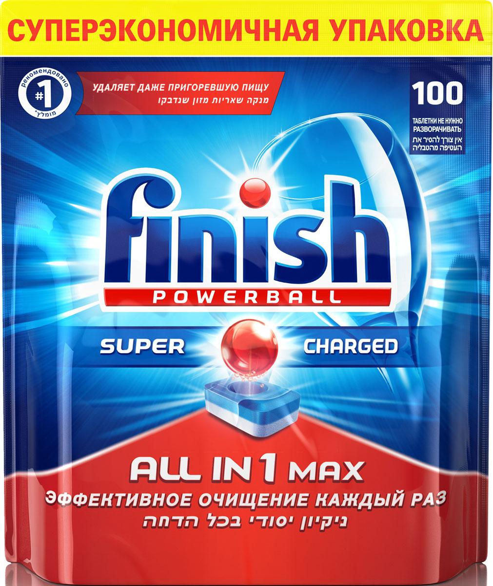 Таблетки для посудомоечной машины Finish Powerball All in 1 Max, 100 шт10015_в пакетеТаблетки для посудомоечных машин Finish Powerball All in 1 Max обеспечивают сверкающую чистоту и блеск, а также защищают стеклянную посуду от налета. Они идеальны для использования на коротких циклах - таблетки быстро растворяются. Состав: 30% и более фосфаты, 5% или более, но менее 15%, кислородсодержащий отбеливатель, менее 5% поликарбоксилаты, менее 5% неионогенные ПАВ, менее 5% фосфонаты, энзимы, ароматизаторы, гексилциннамаль, линалоол. Товар сертифицирован.