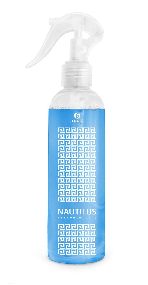 Жидкое ароматизирующее средство Grass Nautilus, 250 мл800016Жидкое ароматизирующее средство Grass Nautilus - это эксклюзивный ароматизатор с уникальным запахом премиального парфюма. Эффективно устраняет неприятные запахи и освежает воздух. Тщательно отобранные ингредиенты, входящие в состав ароматизатора, и экономичный распылитель позволяют наслаждаться ароматом длительное время. Подходит для ароматизации воздуха в помещениях различного типа и в автомобиле. Не оставляет следов на обивке, ткани, мебели, обоях. Товар сертифицирован.