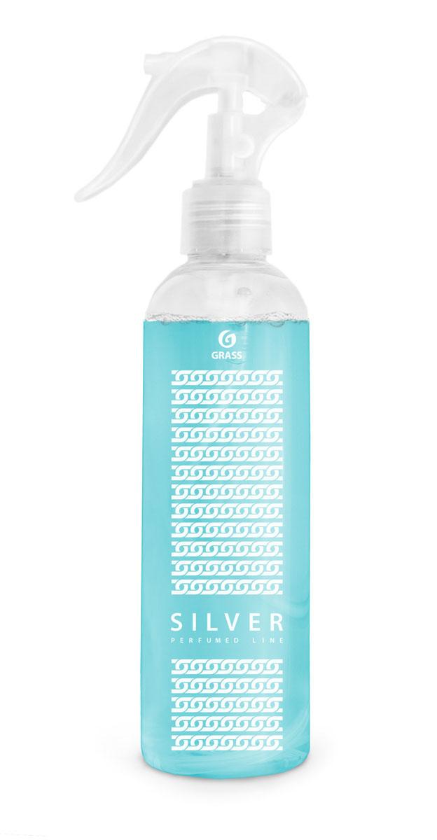 Жидкое ароматизирующее средство Grass Silver, 250 мл800013Жидкое ароматизирующее средство Grass Silver - это эксклюзивный ароматизатор с уникальным запахом премиального парфюма. Эффективно устраняет неприятные запахи и освежает воздух. Тщательно отобранные ингредиенты, входящие в состав ароматизатора, и экономичный распылитель позволяют наслаждаться ароматом длительное время. Подходит для ароматизации воздуха в помещениях различного типа и в автомобиле. Не оставляет следов на обивке, ткани, мебели, обоях. Товар сертифицирован.