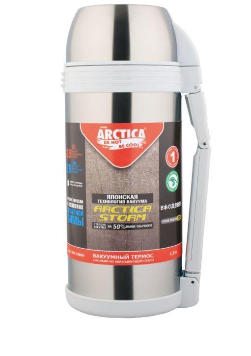 Термос Арктика, с чашкой, цвет: металлик, 2 л205-2000NТермос Арктика с широким горлом сохранит вашу еду или напитки горячими в течение долгого времени. Корпус выполнен из высококачественной нержавеющей стали. Крышку можно использовать в качестве стакана, так же есть дополнительная чашка и удобный ремешок для переноски. Пробка термоса состоит из двух составных частей: узкая для напитков, широкая для еды. Он составит компанию за обеденным столом, улучшит настроение и поднимет аппетит, где бы этот стол не находился. Пусть даже в глухом отсыревшем лесу, где даже развести костер будет стоить немалого труда. Забудьте об этих неудобствах - вместительный и компактный термос Арктика с радостью послужит вам в качестве миниатюрной полевой кухни, поднимет настроение нарядным внешним видом и вкусной домашней едой. Диаметр горлышка для напитков: 4,2 см. Диаметр горлышка для еды: 7,5 см. Диаметр основания: 11 см. Высота (с учетом крышки): 34 см. Время сохранения температуры (холодной и горячей): 30 часов.