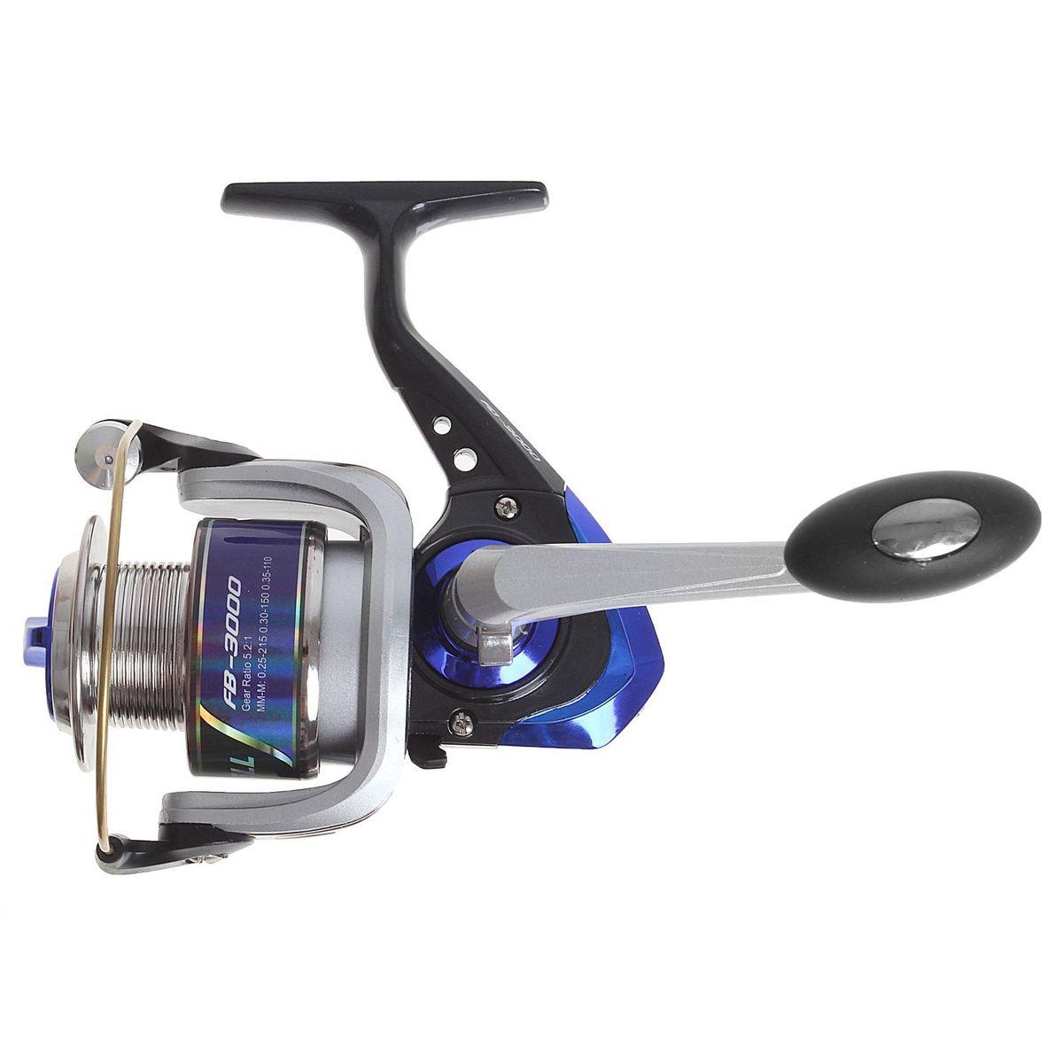 Катушка безынерционная Onlitop 1BB FB 3000, цвет: синий, 1 подшипник1233154Катушка 1BB FB 3000 это универсальная модель «эконом»-класса для разных условий рыбалки, отличный выбор для начинающих рыболовов.