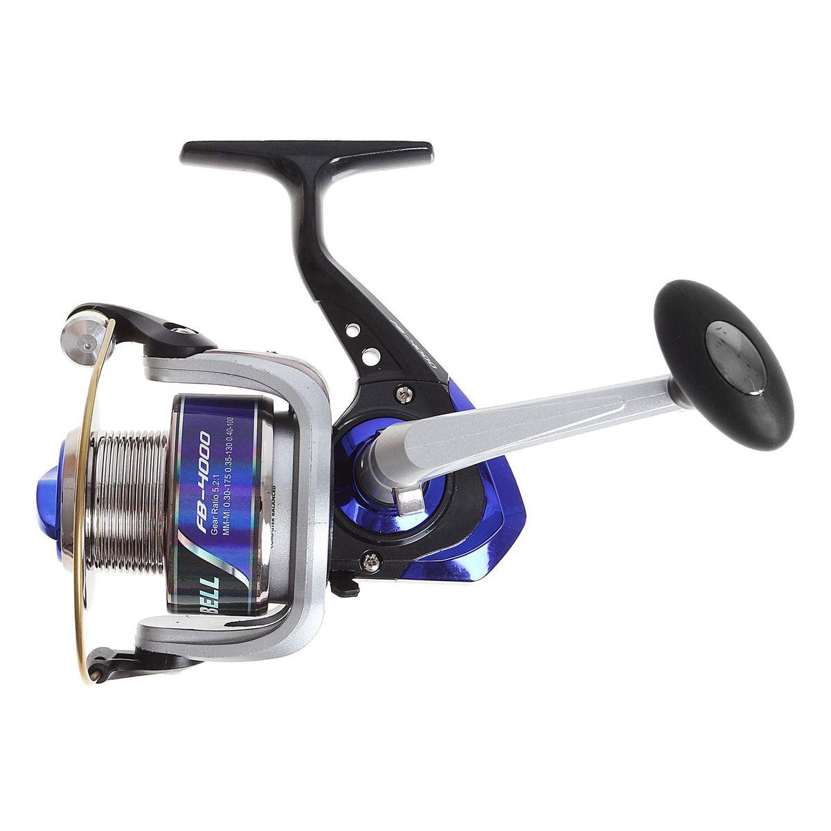 Катушка безынерционная Onlitop 1BB FB 4000, цвет: синий, 1 подшипник1233155Катушка 1BB FB 4000 это универсальная модель «эконом»-класса для разных условий рыбалки, отличный выбор для начинающих рыболовов.