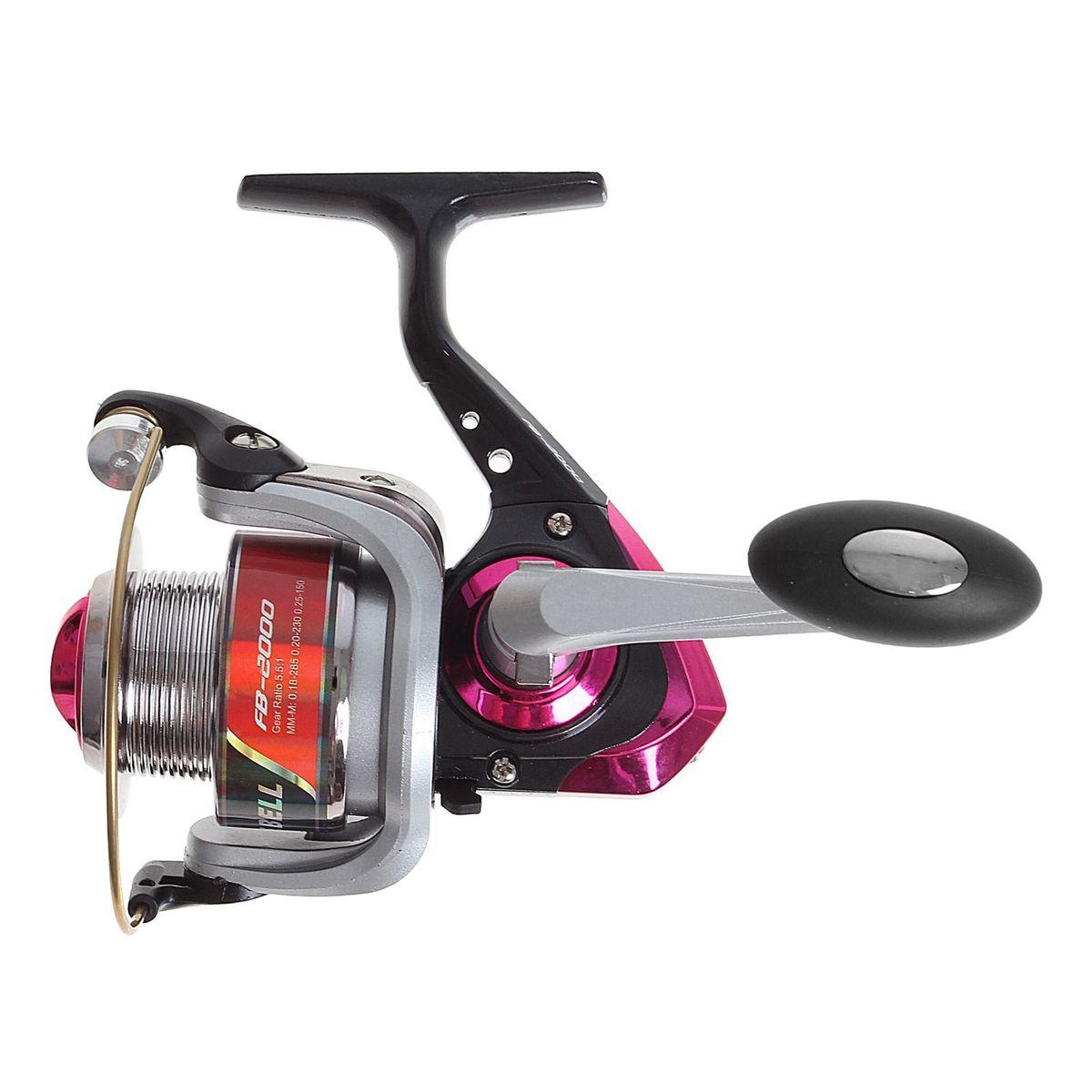 Катушка безынерционная Onlitop 1BB FB 2000, цвет: красный, 1 подшипник1233156Катушка 1BB FB 2000, это универсальная модель «эконом»-класса для разных условий рыбалки, отличный выбор для начинающих рыболовов.