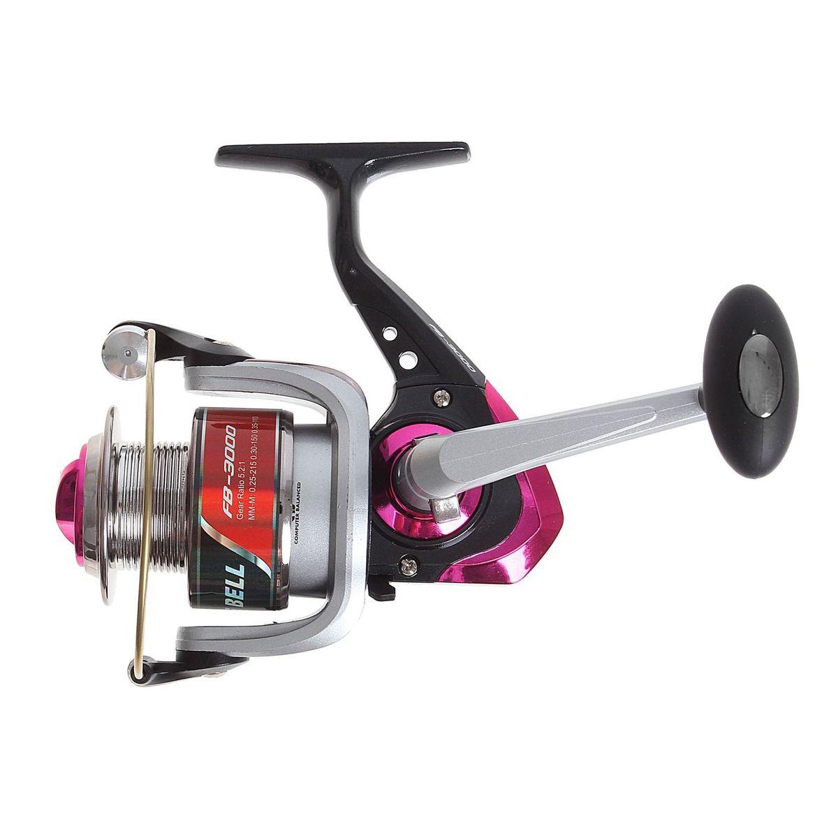 Катушка безынерционная Onlitop 1BB FB 3000, цвет: красный, 1 подшипник1233157Катушка 1BB FB 3000 это универсальная модель «эконом»-класса для разных условий рыбалки, отличный выбор для начинающих рыболовов.