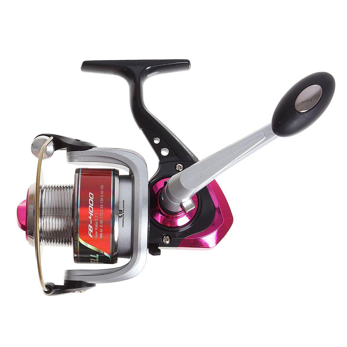 Катушка безынерционная Onlitop 1BB FB 4000, цвет: красный, 1 подшипник1233158Катушка 1BB FB 4000 это универсальная модель «эконом»-класса для разных условий рыбалки, отличный выбор для начинающих рыболовов.