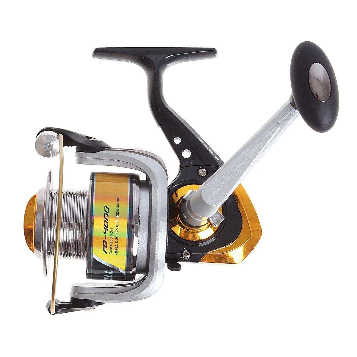 Катушка безынерционная Onlitop 1BB FB 4000, цвет: желтый, 1 подшипник1233161Катушка 1BB FB 4000 это универсальная модель «эконом»-класса для разных условий рыбалки, отличный выбор для начинающих рыболовов.