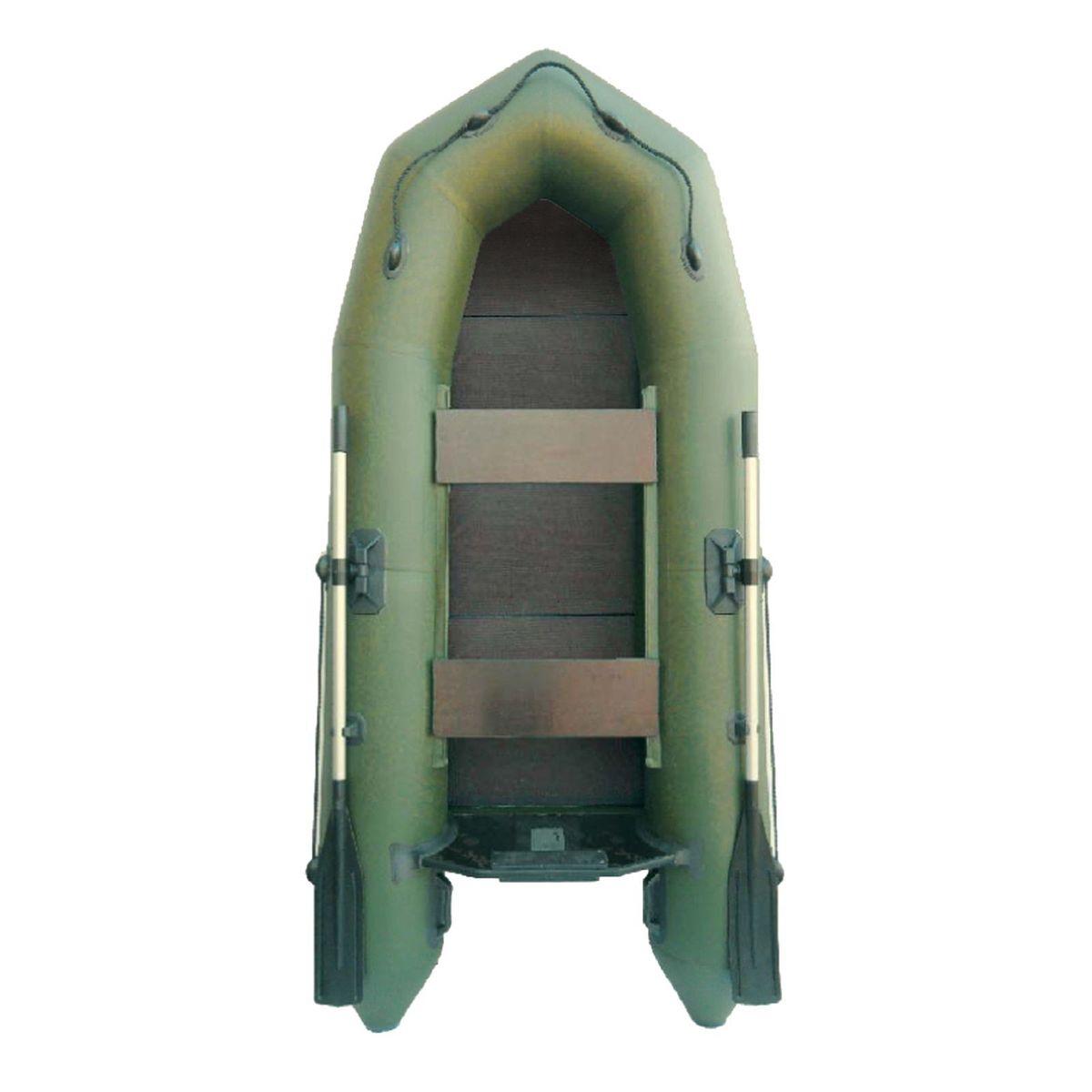 Лодка надувная Муссон 2600 РС, слань, цвет: зеленый1418837«Муссон 2600 РС» — гребная лодка, предназначенная для отдыха, охоты и рыбалки на воде. С ней вы сможете заняться любимым делом в любое время и любую погоду, широкий температурный диапазон даёт возможность эксплуатировать изделие с ранней весны до поздней осени. Вместительность лодки позволяет насладиться активным отдыхом двум людям сразу. Отправляйтесь на рыбалку с другом и разделите радость от улова вместе с ним. Современная модель «Муссон 2600 РС» изготовлена из ПВХ, устойчивого к проколам, порезам и ультрафиолетовым лучам, благодаря чему увеличен срок эксплуатации. Расцветка позволяет быть незамеченным на фоне растительности, а значит, вы не спугнёте свою добычу. Пластины из слани служат теплоизолирующей и амортизирующей прослойкой, обеспечат вам дополнительный комфорт. Данную модель можно хранить длительное время без каких-либо дополнительных обработок поверхности. Лодка проста в транспортировке: в сложенном состоянии она не займёт много места. Данная особенность позволяет без...