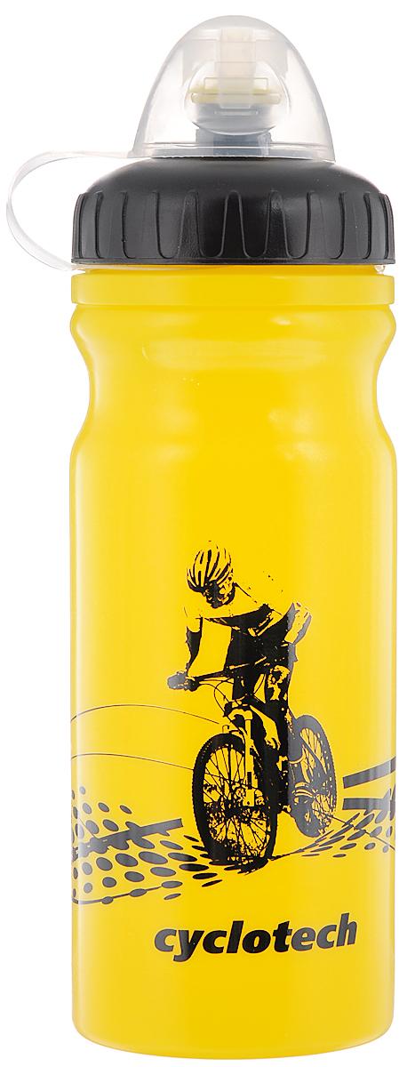 Фляга велосипедная Cyclotech, цвет: желтый, черный, 700 млCBOT-1YВелосипедная фляга Cyclotech изготовлена из высококачественного полиэтилена высокого давления. Изделие без труда устанавливается на велосипед (держатель для фляги приобретается отдельно). Благодаря клапану с сильной струей можно делать большие глотки, а за счет большой винтовой крышки флягу легко наполнить водой. Высота фляги: 23 см.