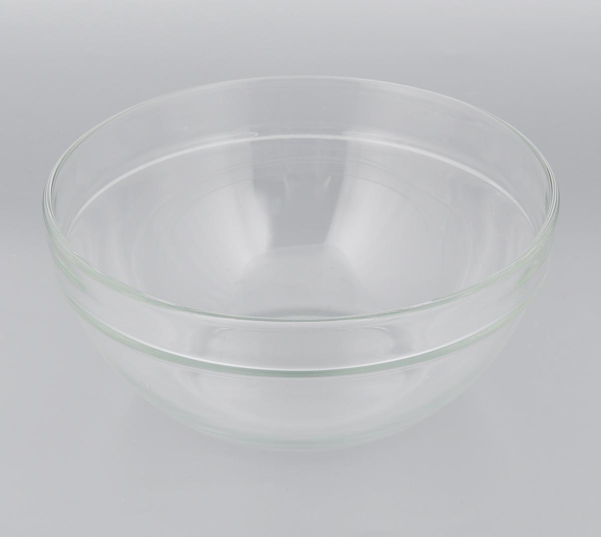 Салатник Luminarc Эмпилабль, диаметр 20 см. 7311273112Салатник Luminarc Эмпилабль выполнен из ударопрочного стекла. Изделие придется по вкусу и ценителям классики, и тем, кто предпочитает утонченность и изысканность. Салатник Luminarc Эмпилабль идеально подойдет для сервировки стола и станет отличным подарком к любому празднику. Диаметр (по верхнему краю): 20 см.
