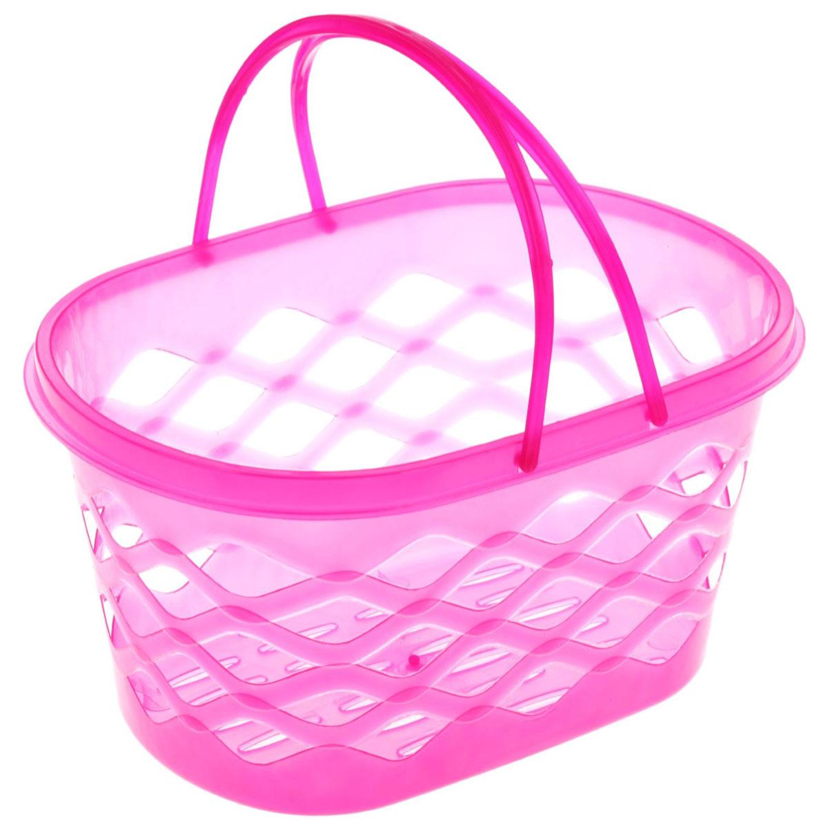 Корзинка для мелочей с ручками,цвет: розовый, 24 x 16 x 12 см184987_розовый