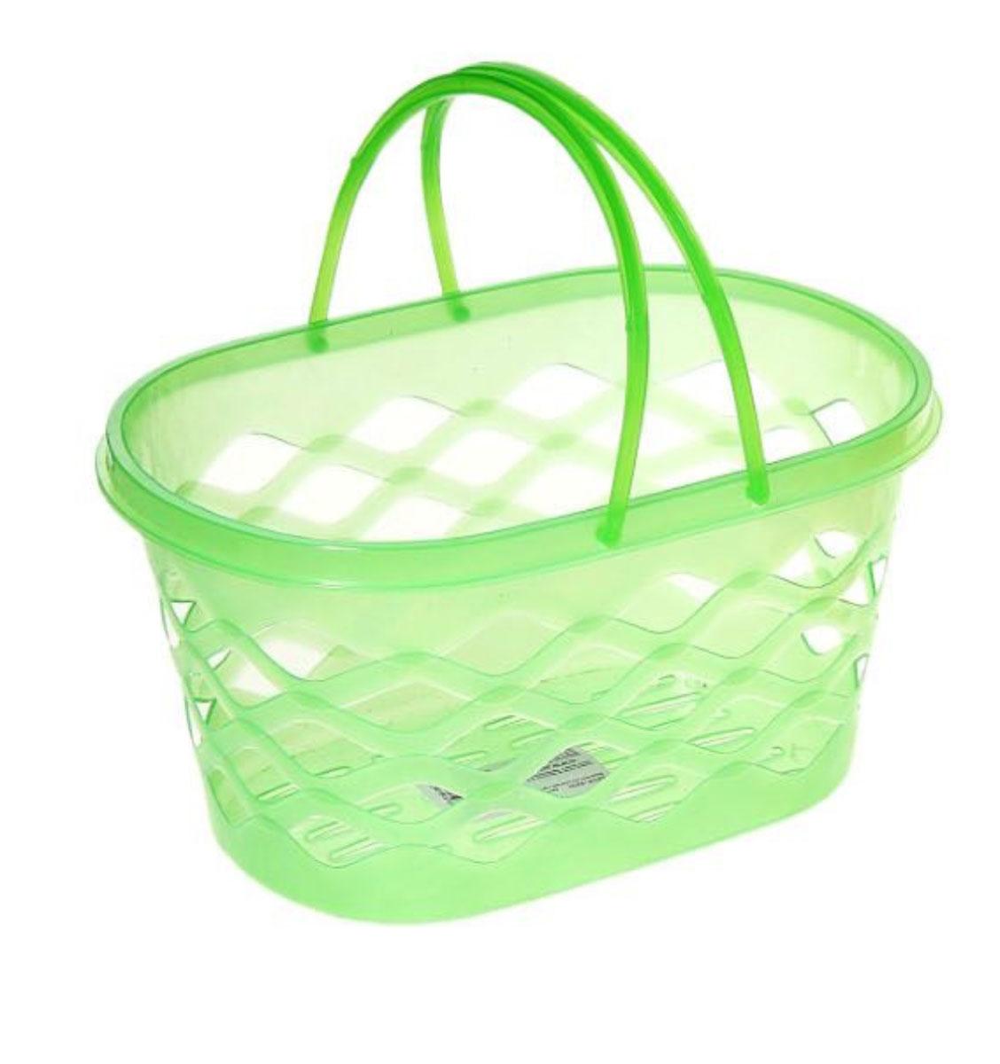 Корзинка для мелочей с ручками,цвет: зеленый, 24 x 16 x 12 см184987_зеленый