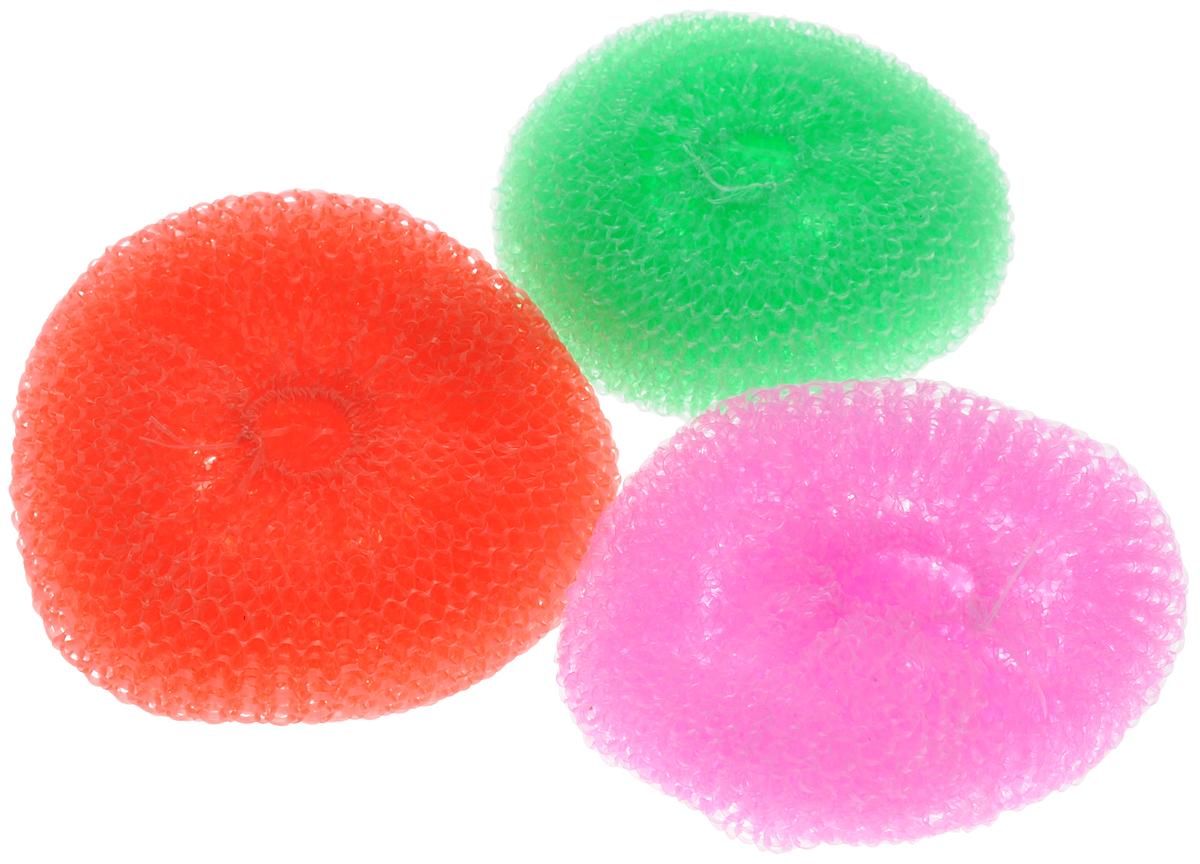 Губка для мытья посуды Фозет Ассорти, цвет: зеленый, розовый, красный, 3 шт2401007_зеленый,розовый,красныйКомплект губок Фозет Ассорти изготовлен из пластика и предназначен для очистки посуды и рабочих поверхностей от стойких загрязнений. Не повреждает поверхность. Изделия не царапают руки, хорошо промываются под струей воды. Размер губки: 8 х 8 х 2,5 см.