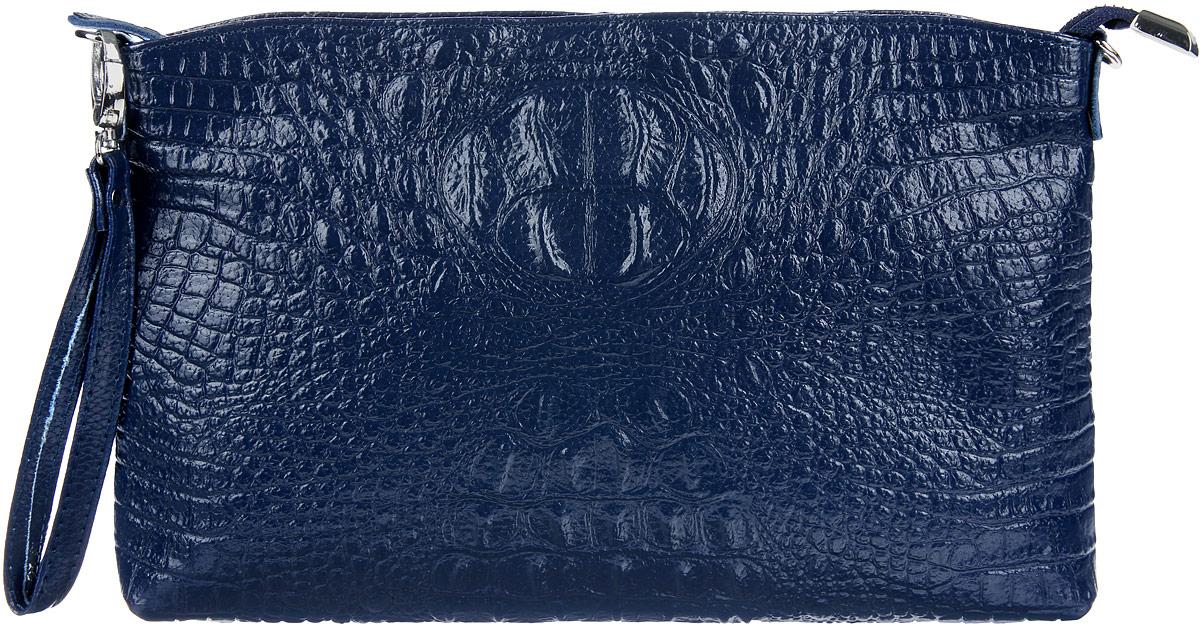 Сумка-клатч женская Cheribags, цвет: темно-синий. 619-17619-17Стильная женская сумка-клатч Cheribags выполнена из натуральной кожи с тиснением под крокодила. Изделие имеет одно основное отделение, разделенное пополам карманом- средником на застежке-молнии. Закрывается сумка-клатч на застежку-молнию. Внутри расположены два накладных открытых кармана и прорезной карман на застежке-молнии. Снаружи, на задней стенке расположен прорезной карман на застежке-молнии. Изделие оснащено съемным ремешком на запястье. В комплект входит съемный регулируемый наплечный ремень. Роскошная сумка-клатч внесет элегантные нотки в ваш образ и подчеркнет ваше отменное чувство стиля.