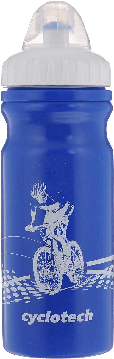 Фляга велосипедная Cyclotech, цвет: синий, белый, 700 млCBOT-1BВелосипедная фляга Cyclotech изготовлена из высококачественного полиэтилена высокого давления. Изделие без труда устанавливается на велосипед (держатель для фляги приобретается отдельно). Благодаря клапану с сильной струей можно делать большие глотки, а за счет большой винтовой крышки флягу легко наполнить водой. Высота фляги: 23 см.