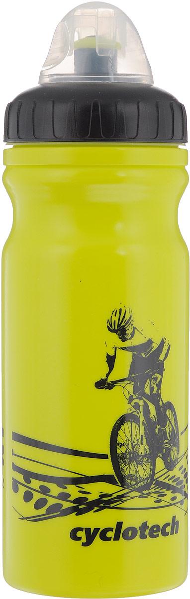 Фляга велосипедная Cyclotech, цвет: салатовый, черный, 700 млCBOT-1GRВелосипедная фляга Cyclotech изготовлена из высококачественного полиэтилена высокого давления. Изделие без труда устанавливается на велосипед (держатель для фляги приобретается отдельно). Благодаря клапану с сильной струей можно делать большие глотки, а за счет большой винтовой крышки флягу легко наполнить водой. Высота фляги: 23 см.