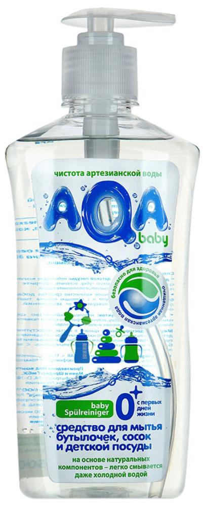 AQA baby Средство для мытья бутылочек, сосок и детской посуды, 500 мл009401Средство AQA baby для мытья детской посуды полностью безопасно для младенцев с первых дней жизни: специальная комбинация из нескольких мягких ПАВов эффективно удаляет пищевые загрязнения с детской посуды, сосок и т.д. При этом средство быстро и легко смывается водой, не оседая на посуде. Подходит для мытья овощей и фруктов. Не раздражает кожу рук, не сушит кожу. Не содержит плохих консервантов (формальдегидов и т.д.), фосфатов и красителей. Не вызывает аллергии. Характеристики: Объем: 500 мл. Артикул: 009401. Товар сертифицирован.
