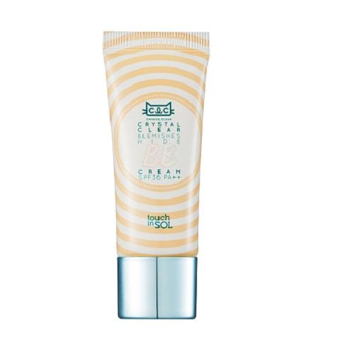Touch in SOL BB крем Crystal Clear, SPF 36PA, цвет: бежевый, 20 млУТ000001710Содержит пудровые микрочастицы. Мягкие пудровые микрочастицы создают покрытие, которое контролирует жирный блеск, а также выравнивает тон кожи, подчеркивая ее естественную красоту. Увлажнение изнутри. Крем содержит высокоувлажняющую эссенцию, которая разглаживает поверхность кожи, освежая ее. Благодаря чему, пигментный тон ложится ровно, а кожа, при этом, остается увлажненной изнутри. 3 в 1 многофункциональность Отбеливание, борьба с морщинками, защита УФлучей. ВВ-крем защищает кожу от ультрафиолетового излучения, мелкой пыли и других факторов окружающий среды. Крем отбеливает кожу, выравнивая тон, разглаживает морщинки. Нет необходимости в дополнительной защите от солнца. Подходит для чувствительной кожи.