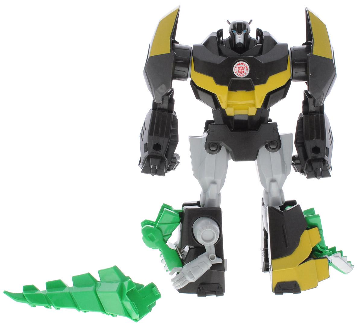 Transformers Трансформер Robots in Disguise GrimlockB0067_B5595_GrimlockTransformers Robots in Disguise Grimlock обязательно понравится любому маленькому поклоннику знаменитых Трансформеров! Игрушка выполнена из прочного пластика в виде трансформера-автобота Гримлока. Руки и ноги робота подвижны. В 3 простых шага малыш сможет трансформировать фигурку робота в грозного динозавра. Ребенок с удовольствием будет играть с трансформером, придумывая различные истории. Порадуйте его таким замечательным подарком!