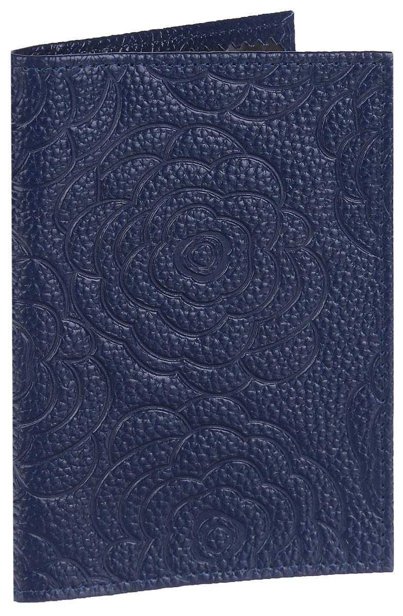 Обложка для паспорта Cheribags, цвет: темно-синий. ОР-17ОР-17 розаСтильная обложка для паспорта Cheribags изготовлена из натуральной кожи с фактурным тиснением и оформлена цветочным тиснением. Обложка для паспорта поможет сохранить внешний вид ваших документов и защитить их от повреждений, а также станет стильным аксессуаром.