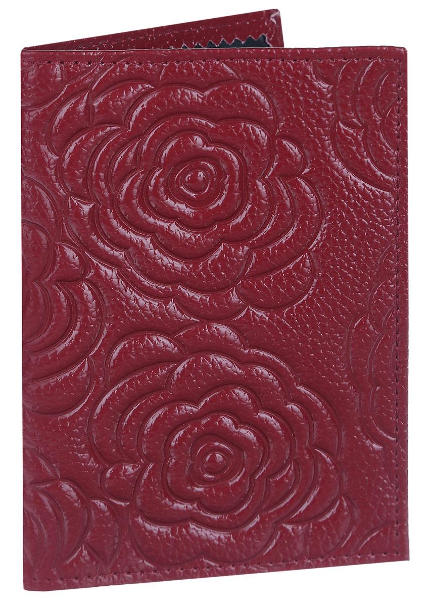 Обложка для паспорта Cheribags, цвет: бордовый. ОР-33ОР-33 розаСтильная обложка для паспорта Cheribags изготовлена из натуральной кожи с фактурным тиснением и оформлена цветочным тиснением. Обложка для паспорта поможет сохранить внешний вид ваших документов и защитить их от повреждений, а также станет стильным аксессуаром.