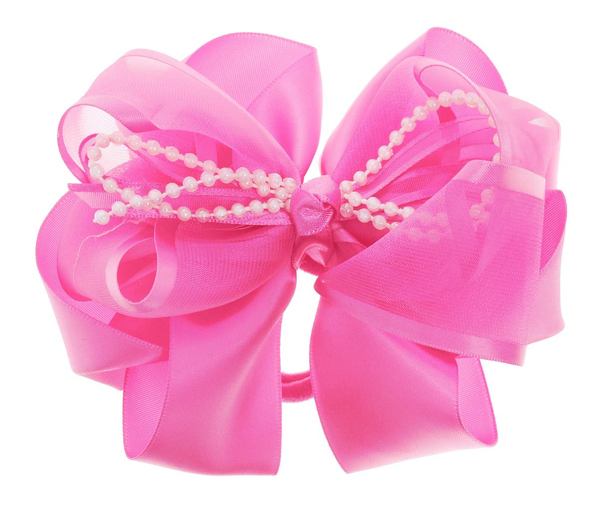 Babys Joy Резинка для волос цвет розовый MN 61MN 61_розовыйРезинка для волос Babys Joy изготовлена из текстиля и дополнена милым бантиком, который оформлен перламутровыми бусинами. Резинка для волос Babys Joy надежно зафиксирует волосы и подчеркнет красоту прически вашей маленькой принцессы.