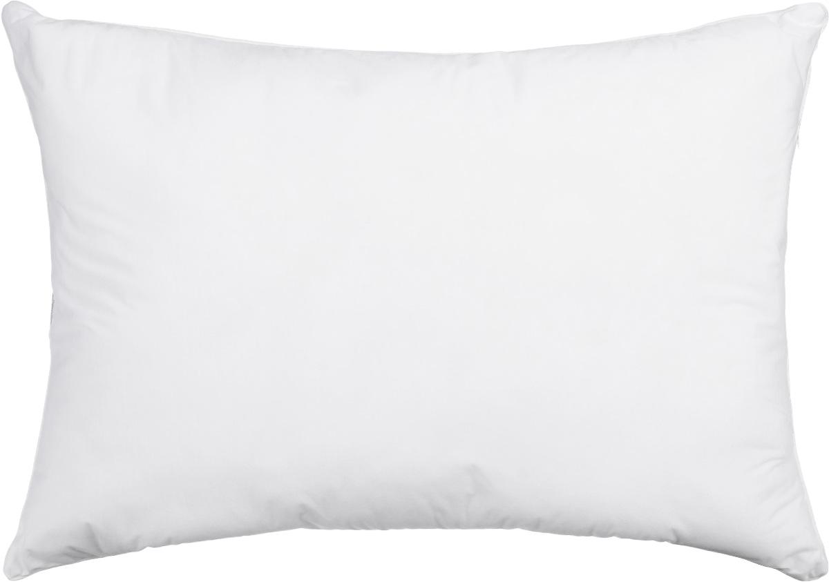 Подушка Smart Textile Эко-сон, наполнитель: искусственный лебяжий пух, 48 х 68 смDF09Подушка Smart Textile Эко-сон подарит вам незабываемое чувство комфорта и умиротворения. Чехол выполнен из ткани тенсель, имеет окантовку и застежку-молнию. Тенсель - это ткань натурального происхождения, которая выполнена из древесного австралийского эвкалипта. Верхний слой 100% Tentel, который покрыт дышащей, водоотталкивающей, полиуретановой оболочкой. Наполнителем в такой подушке является искусственный лебяжий пух. Подушка обладает антибактериальной активностью к культурам St.aureus (Золотистый стафилококк) и Kl.pneumonia (Клебсиелла пневмония). Аллергия - это довольно неприятное явление для человека, обладающего повышенной чувствительностью к какому-либо компоненту окружающей его среды. Одним из самых распространенных аллергенов - это пыль, а точнее пылевые клещи, которые и вызывают недомогания. Лечение аллергии - довольно сложный процесс. Поэтому эффективнее всего будет профилактика аллергии. Лучший способ...