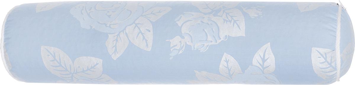 Подушка-валик Smart Textile, наполнитель: бамбуковое волокно, цвет: голубой, серебристый, 41 х 10 смC497Подушка-валик Smart Textile с наполнителем из бамбукового волокна - универсальное средство от болей в шее, в дороге и дома. Она обеспечивает комфортный отдых, поддерживает шею и голову, уменьшая нагрузку на шейный отдел позвоночника, восстанавливает мышечный тонус. Материал чехла подушки: тиковая ткань (х/б). Сбоку имеется застежка-молния. Бамбуковое волокно - это экологически чистый наполнитель, не вызывающий аллергии. Обладает гигроскопичностью (хорошо впитывает влагу и быстро ее испаряет), не накапливает пыль и запахи, остается свежим, хорошо вентилируется. Рекомендации по уходу: Обычная стирка при температуре воды до 40°С. Отбеливание и глажка запрещены. Рекомендуется сушка на горизонтальной плоскости в тени. Разрешена обычная химчистка. Длина подушки: 41 см. Диаметр подушки: 10 см.