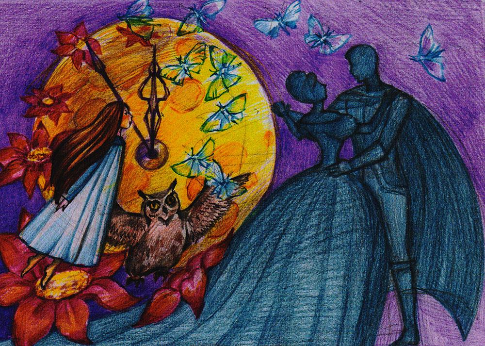 Мечта. Открыткаpw0044Дизайнерская открытка. На лицевой стороне находится собирательный образ мечты. Набросок скетч. Автор рисунка - Анастасия Панкова. Размер: 10.5 х 14.7 см.