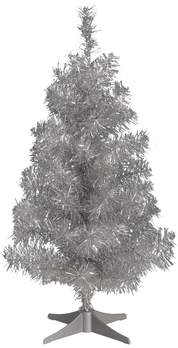 Ель National Tree Company, с мишурой, цвет: серебристый, высота 61 см31WTLSILV20RИскусственная ель National Tree Company - прекрасный вариант для оформления интерьера к Новому году. Ель не нужно собирать, достаточно распушить веточки и нарядить ее. Ветки ели очень густые и пушистые. Иголочки не осыпаются, не мнутся, со временем не выцветают. Ель National Tree Company обязательно создаст настроение праздника. В комплект входит устойчивая пластиковая подставка.