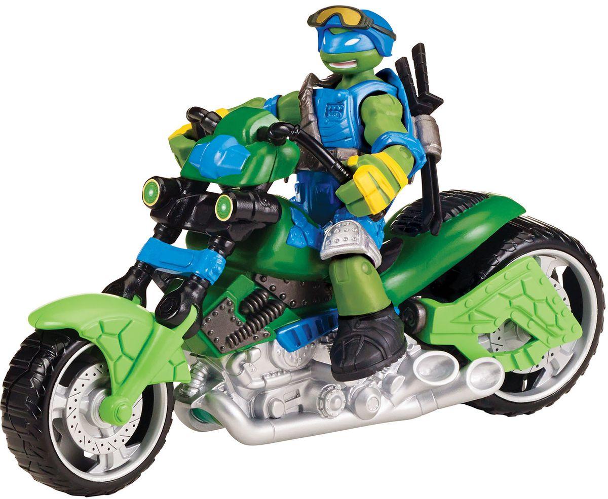 Черепашки Ниндзя Мотоцикл-квадрокоптер с фигуркой Лео94262Транспортное средство с базовой фигуркой 12 см. Мотоцикл трансформируется в квадрокоптер для новых приключений!