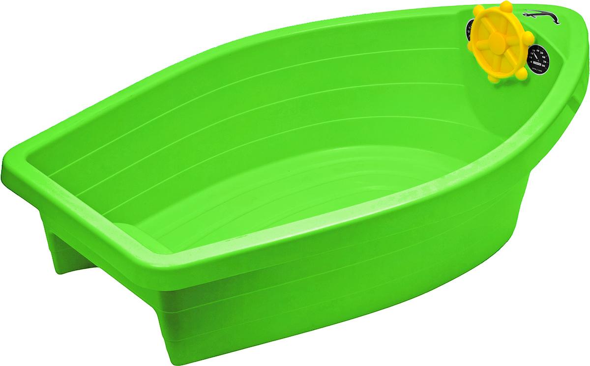 PalPlay Бассейн с покрытием Лодочка цвет салатовый311_салатовыйЯркий прочный бассейн PalPlay Лодочка прекрасно подойдет для веселой игры малыша на даче. Теперь в жаркий летний денек малыш сможет охладиться и побарахтаться в водичке. У лодочки имеется штурвал. Ребенок сможет представить себя капитаном дальнего плавания. Внутри находится сиденье для малыша. В комплект также входит набор наклеек. Бассейн PalPlay Лодочка выполнен из прочного нетоксичного пластика, с соблюдением европейского стандарта качества и безопасности для детских товаров. Удобный тент-покрытие позволит сохранить чистой воду в то время, когда малыш не играет. Бассейн предназначен для детей от 2 лет и весом до 25 кг.