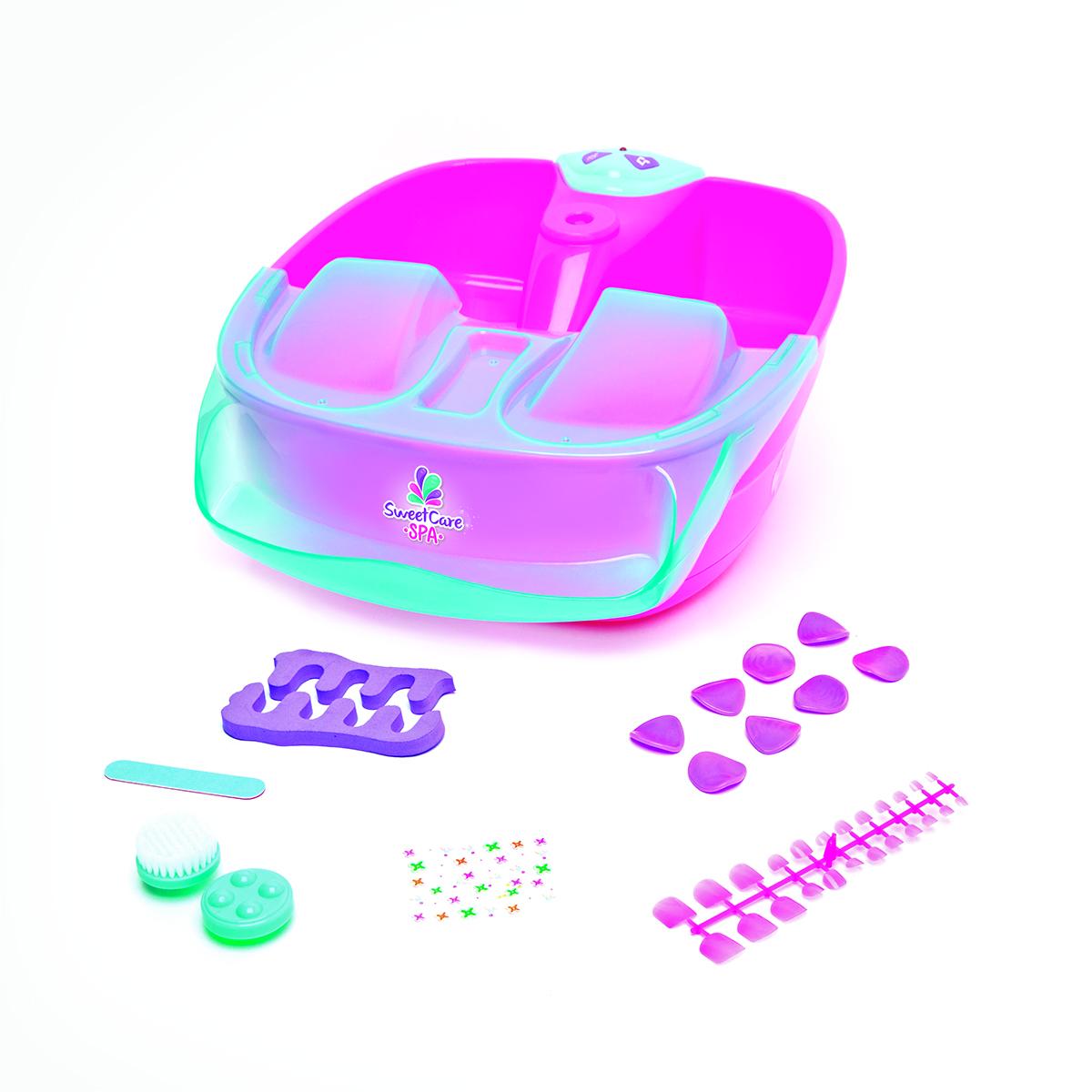 Ameurop Детский набор для педикюра FOOT SPASCHBНабор для педикюра входит-ванночка для ног, шаблоны для рисунков, декоратичные светильник свеча, палочки для педикюра расширитель для пальцев, массажные нассадки, наклейки.