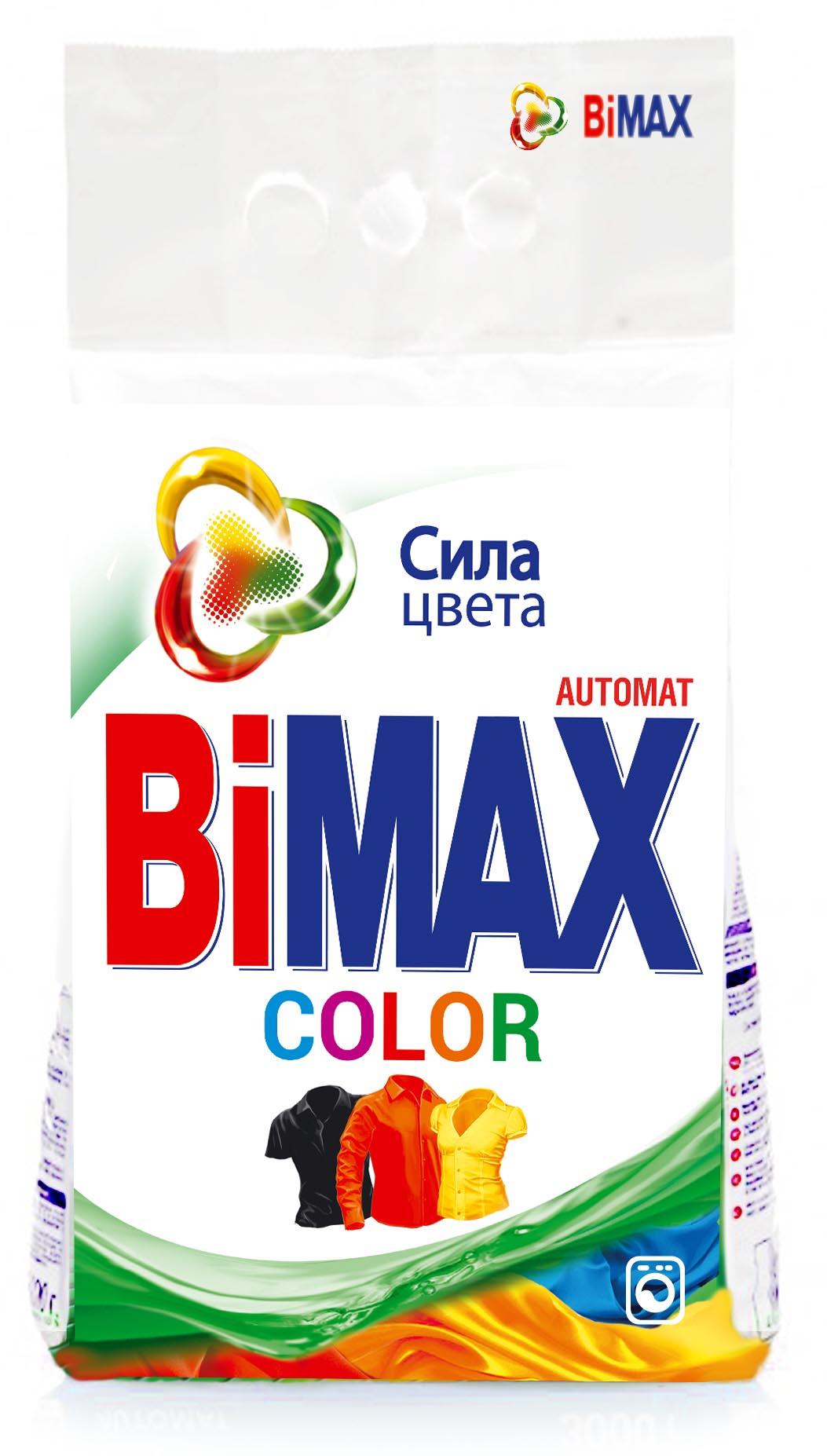 Стиральный порошок BiMax Color, 6 кг526-1Стиральный порошок BiMax Color предназначен для замачивания и стирки изделий из цветных хлопчатобумажных, льняных, синтетических тканей, а также тканей из смешанных волокон. Не предназначен для стирки изделий из шерсти и натурального шелка. Порошок имеет пониженное пенообразование, содержит биодобавки и перекисные соли. BiMax сохраняет цвета ваших любимых вещей даже после многократных стирок. Эффективно удаляет загрязнения и трудновыводимые пятна, а также защищает структуру волокон ткани и препятствует появлению катышек. Кроме того, порошок экономит ваши средства: 6 кг BiMax заменяют 9 кг обычного порошка. Подходит для стиральных машин любого типа и ручной стирки.