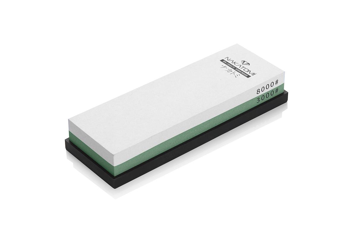 Камень точильный Nakatomi водный комбинированный #3000/#8000 . BN 3800/UBN 3800/UПредназначен для правки и полировки режущей кромки кухонных ножей. Внимательно ознакомьтесь с инструкцией по эксплуатации! В комплектацию входит резиновая платформа (против скольжения). Водный комбинированный #3000/#8000