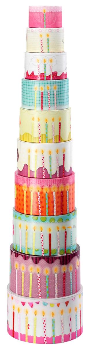 Lilliputiens Пирамидка Гусеница Джульетта86412Соедините все цилиндры и постройте гусеницу или торт. Сложите их от меньшей части к большей - гусеница Джульетта спрячется. Найдите цифры, сосчитайте свечки и сравните размеры животных. Игрушка изготовлена из натурального материала - плотного картона. Игры с пирамидкой Lilliputiens Гусеница Джульетта помогут ребенку в развитии мелкой моторики рук, координации движений, познакомят с понятиями формы, цвета и размера предмета.