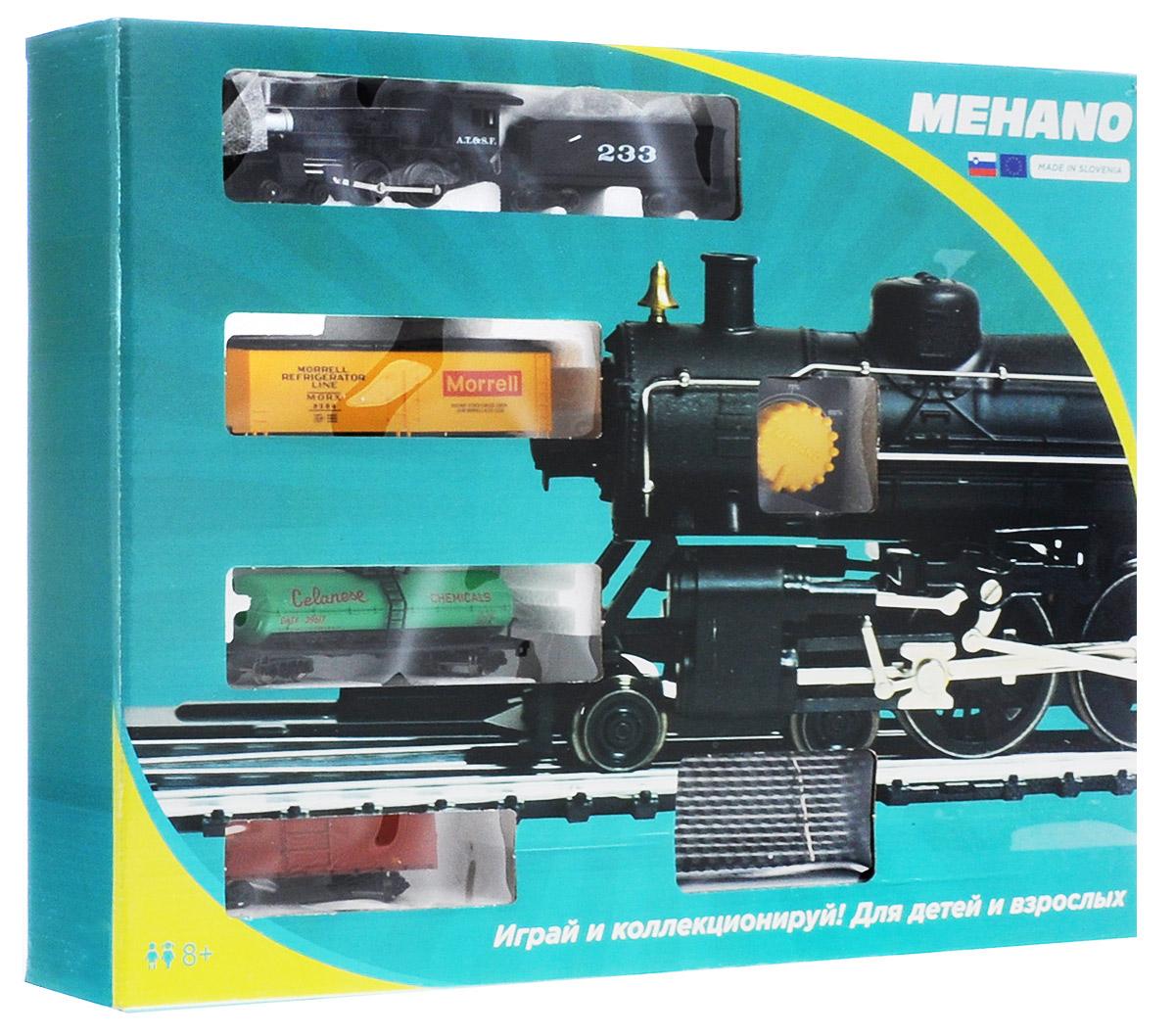 Mehano Железная дорога Hobby с паровозом AT&SFPR02-260Железная дорога Mehano - миниатюрная копия грузового состава. Мельчайшие детали паровозов, тепловозов и грузовых вагонов, каждая рельефная линия экстерьера тщательно проработаны, благодаря чему состав выглядит более чем реально. Можно вообразить, как этот состав загрузили где-то на миниатюрном перевалочном пункте, а затем он аккуратно вез свой груз по длинным разветвленным путям... Воплотить воображаемое в действительность очень легко: при желании железнодорожное полотно можно увеличить и добавить элементы ландшафта, ведь все элементы железных дорог Mehano совместимы друг с другом. При желании, можно докупить стрелку, перекресток и состав может двигаться на другие участки железной дороги. Рельсы металлические, колеса паровозов и вагонов выполнены из металла. Все элементы комплекта совместимы с другими сборными моделями железной дороги Mehano, так что юный машинист сможет прокладывать различные маршруты, строить новые станции и придумывать неповторимый,...