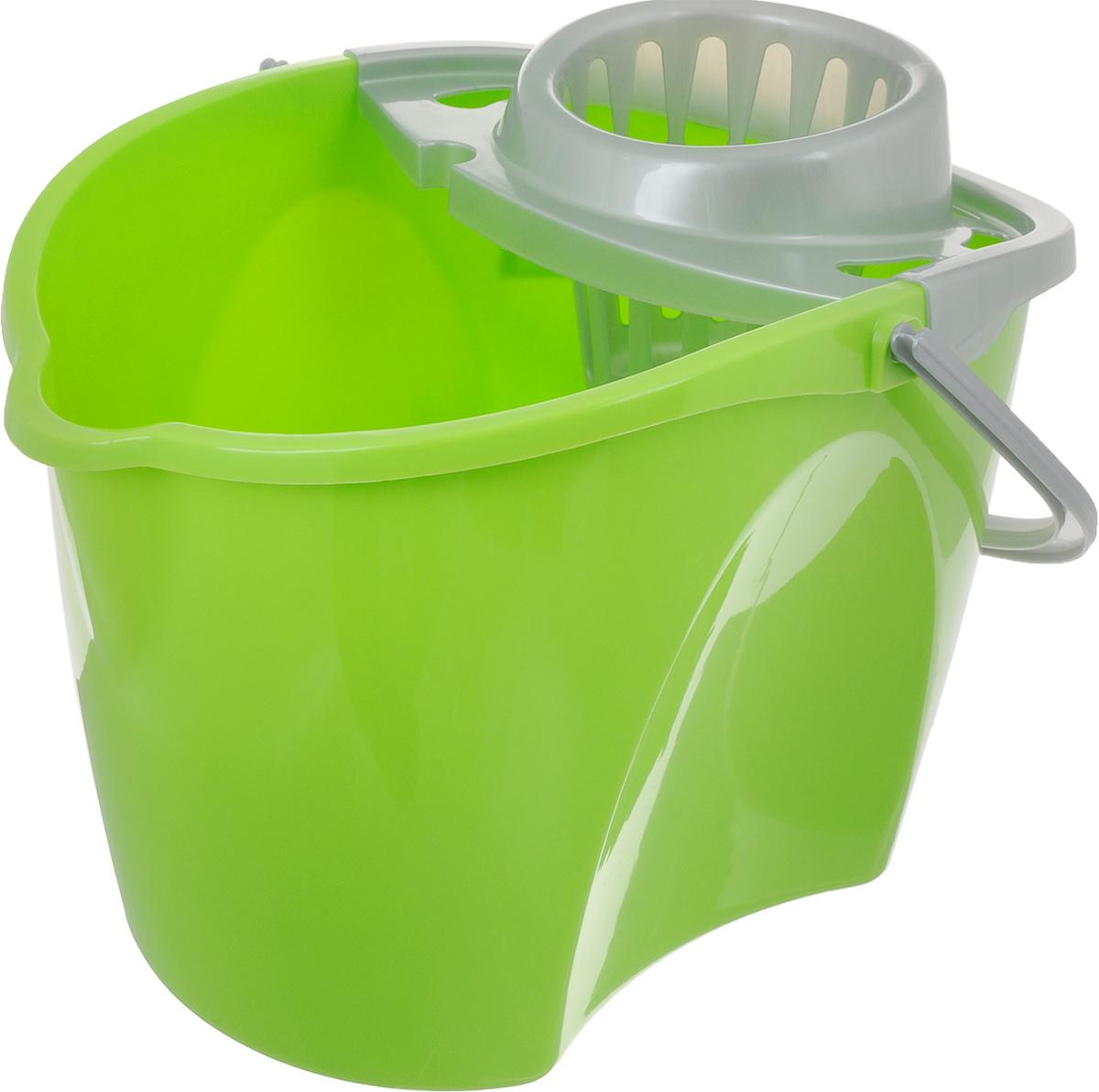 Ведро Paclan Green Mop с отжимом, 12 л412180/412130Ведро с отжимом Paclan Green Mop, изготовленное из высококачественного прочного пластика, оснащено съемной вставкой для отжима швабры и удобной ручкой для переноски. Такое ведро пригодится в каждом доме, а стильный дизайн сделает его желанным для любой хозяйки.