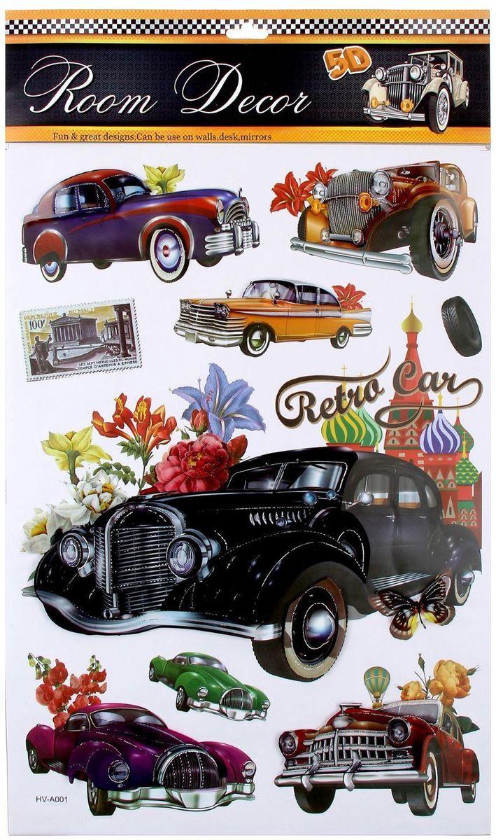 Room Decor Наклейка интерьерная 5D Retrocar1123359Наклейка интерьерная - именно то, что раскрасит серые будни яркими красками. Создайте для себя и своих близких атмосферу праздника. Данный товар соответствует российским стандартам качества, вам не придётся краснеть за такой подарок.