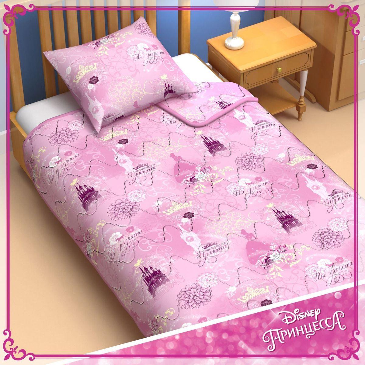 Disney Одеяло 1,5 спальное Принцессы 140 х 205 см 11531691153169Сказочные сны с любимыми принцессами Disney. Маленькая любительница мультфильмов Disney будет в восторге от этого очаровательного одеяла нежно розового цвета с надписями на русском языке! Оно подарит крохе сны, полные волшебства, и по-настоящему доброе утро. Почему? Потому что одеяло изготовлено в России на современном оборудовании, а при нанесении рисунка использовались только качественные европейские красители. Над дизайном работала команда настоящих мастеров своего дела: очаровательные персонажи мультфильмов, детально проработанная картинка, гармоничное сочетание цветов — всё это результат их кропотливой работы. В качестве наполнителя для изделия используется файбер — практичный, безопасный и мягкий материал. Именно поэтому одеяло: поддерживает комфортную температуру тела во время сна; не способствует появлению аллергии и раздражения; позволяет коже дышать и впитывает влагу; хорошо переносит многочисленные стирки, сохраняя...