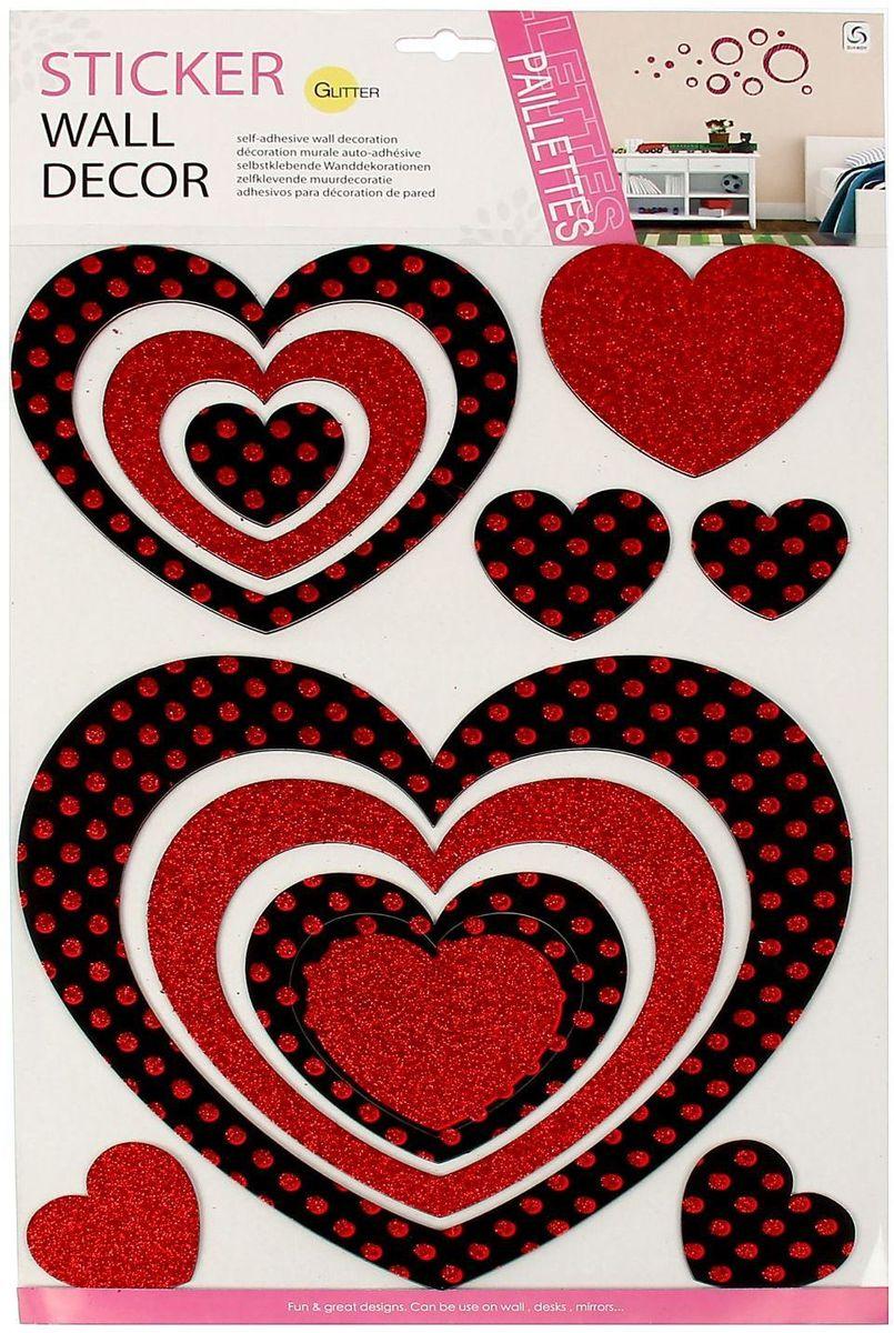 Wall Decor Наклейка интерьерная Сердце с блестками1154569Наклейка интерьерная Сердце - именно то, что раскрасит серые будни яркими красками. Создайте для себя и своих близких атмосферу праздника. Данный товар соответствует российским стандартам качества, вам не придётся краснеть за такой подарок.
